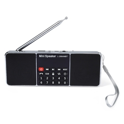 Hot L-288AMBT AM / FM Radio Mini Portable Rechargeable Bluetooth Wireless Speaker Support TF Card USB Disk MP3 with LCD Screen