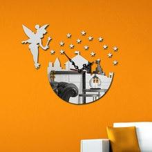 DIY Creative Wall Clock 3D Fairy Stickers Mural Modern Design Picture Clocks Gifts Watch