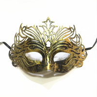 Steelmaster Antique Gold&Silver Ancient Rome Gladiator Crown Mask Women Retro Prom Eye Mask Masque Party Half Face Mask Cosplay