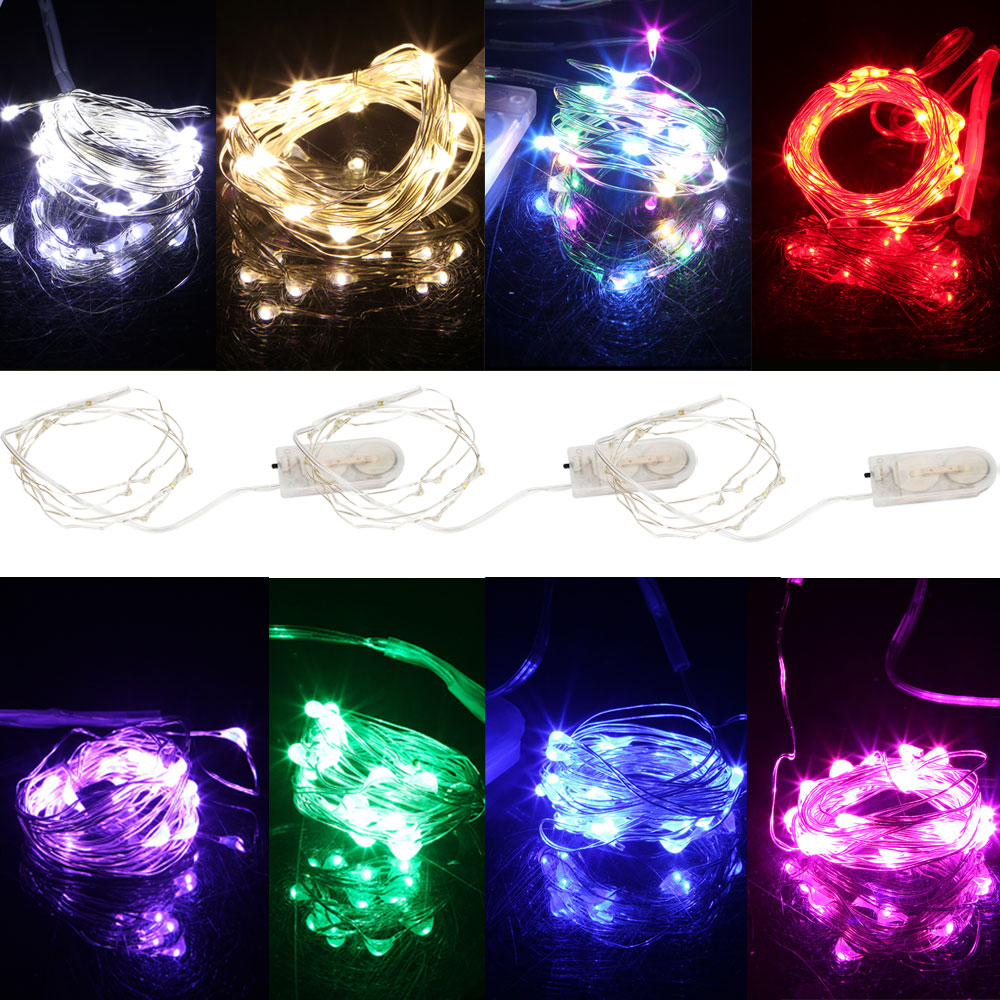 3M 30LEDs Copper Silver Wire Garlands String Lights Waterproof Holiday Lighting For Fairy Christmas Tree Wedding Party Decor