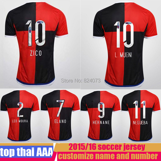 15 16 camisa do flamengo second soccer jersey thai quality 2015 2016 brazil  flamengo football uniform t shirt fffea0deb