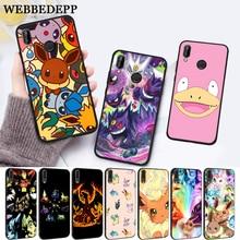 WEBBEDEPP cartoon pokemons eevee pika Silicone Case for Huawei P8 Lite 2015 2017 P9 2016 Mimi P10 P20 Pro P Smart 2019 P30 все цены