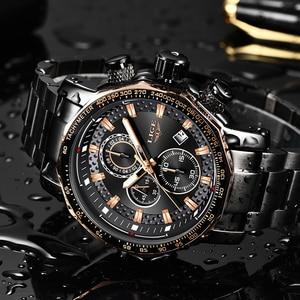 Image 4 - 2020 LIGE Neue Mode Herren Uhren Top Luxus Marke Military Große Zifferblatt Männliche Uhr Analog Quarz Uhr Männer Sport Chronograph uhr