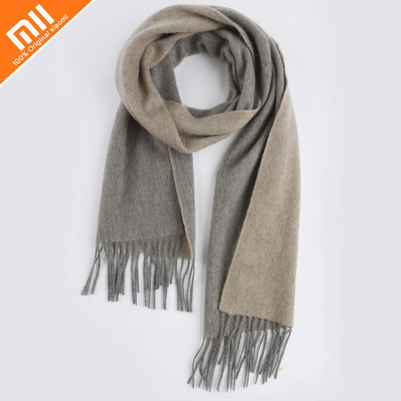 Original xiaomi mijia pure cashmere super soft double-sided color scarf 100% cashmere unisex scarf winter windproof cold