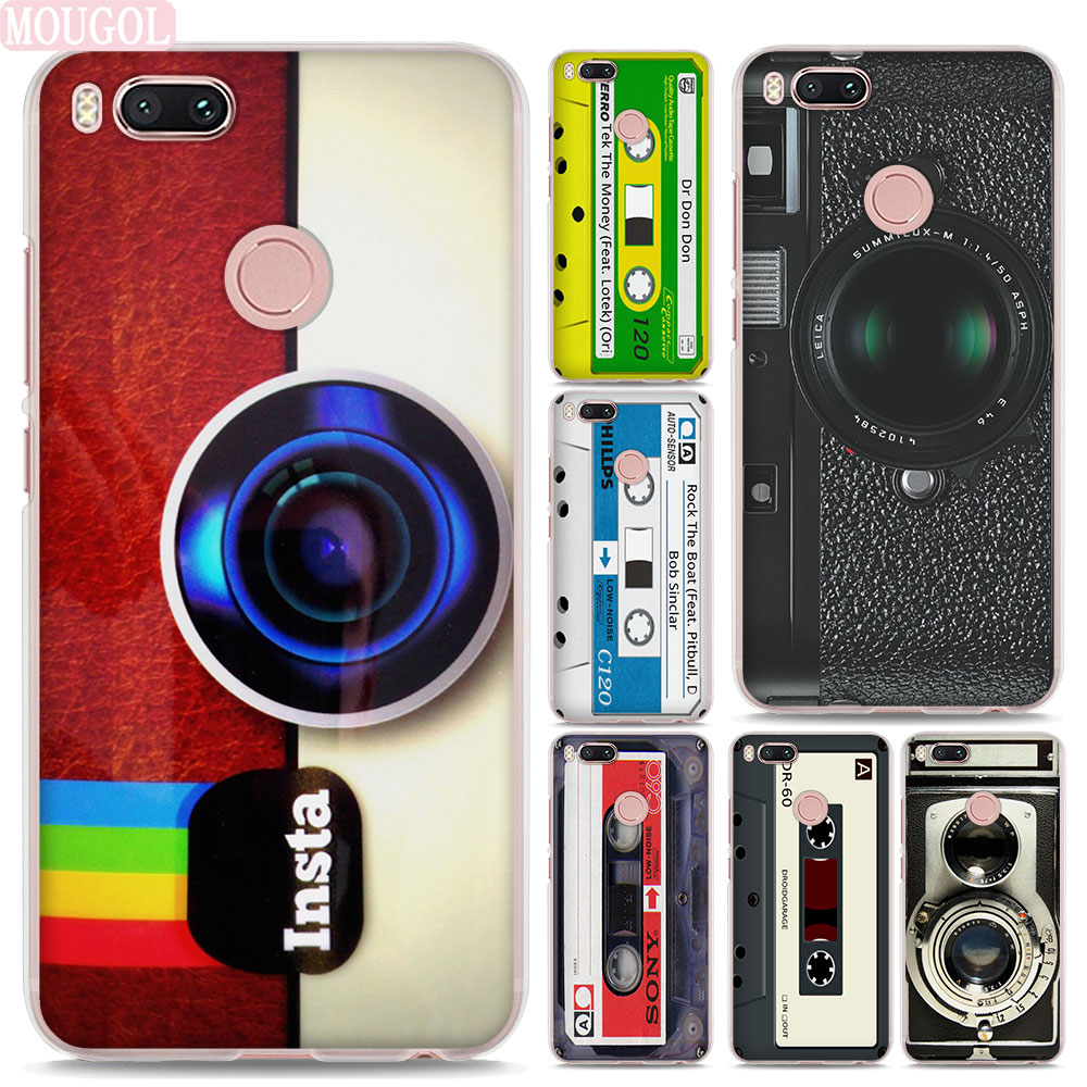 MOUGOL Vintage Camera Magnetic tape design hard clear Phone shell Case for Xiaomi Mi A1 5X 6 5s for Redmi 5A 4X Note4X 5Plus