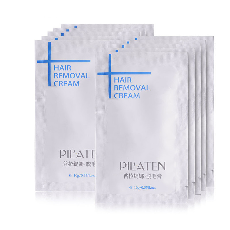 50pcs/Lot New arrival PILATENA Hair Removar Cream Painless Depilatory Cream For Leg/Armpit/Body 10g Hair Removal Cream 13
