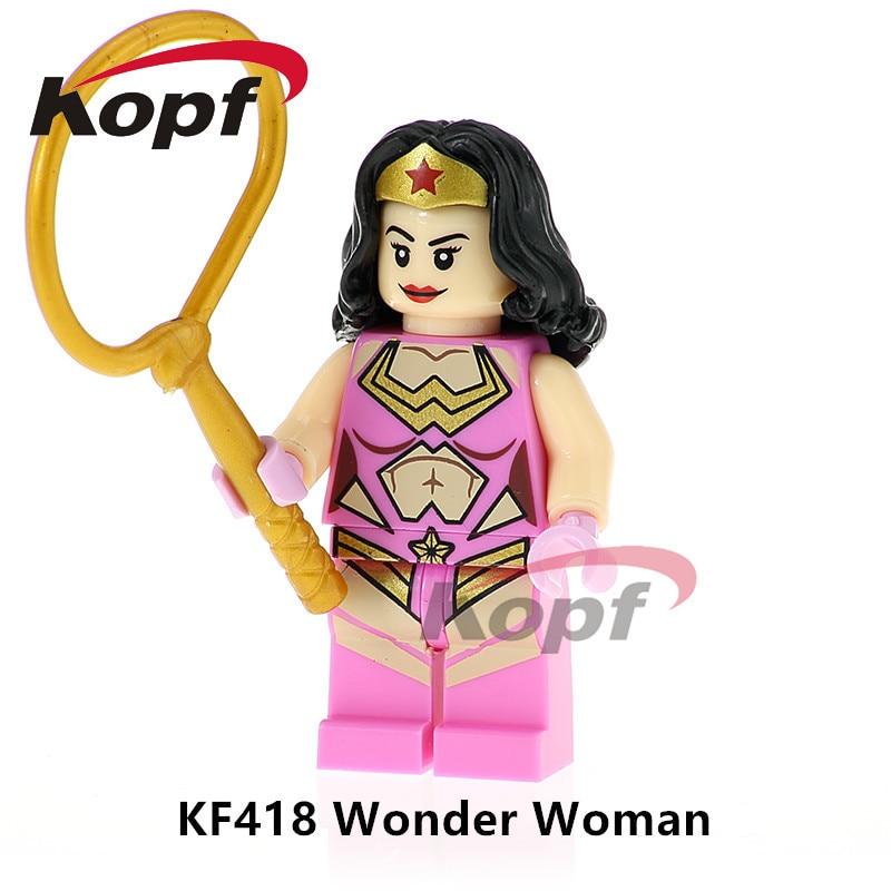 Super Heroes одной продажи Wonder Woman scarface Джокер Мардж Симпсон Кирпичи образования Building Конструкторы Детский подарок Игрушечные лошадки kf418