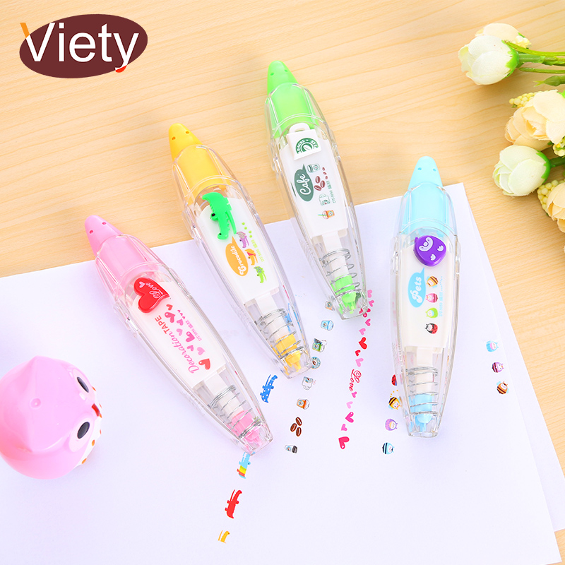 1 x korean cute correction tape kawaii stationery masking tape school supplies DIY Scrapbooking Stickers цена и фото
