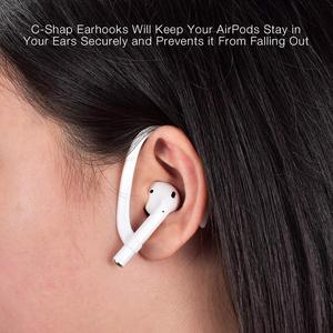 Image 4 - Luxury Anti lost earpods hook for Airpods holder headphone case silicon sport ear hook air pods protection earbuds accessory