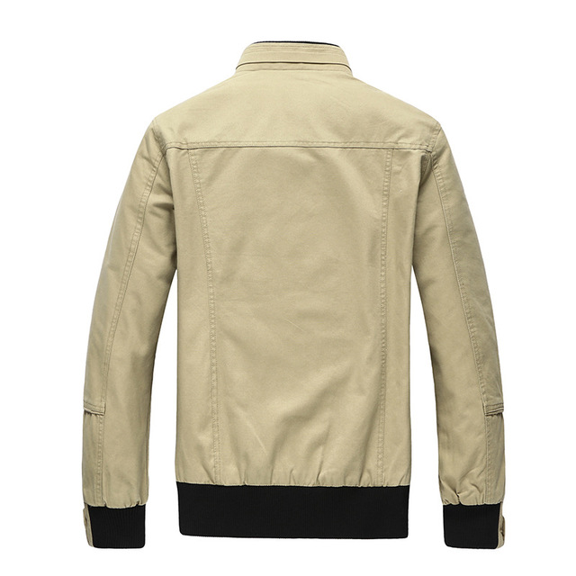 2017 Autumn Spring Jacket Men Casual Coats Middle-Aged Comfortable Jackets For Male Outerwear Plus size M-4XL