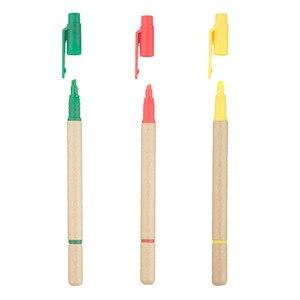 Image 5 - Lot 50 stücke Ball stift Highlighter ECO Papier Stift 2 in 1 Kugelschreiber Fluoreszierende Werbe Personalisierte Geschenk Anpassen Messe Giveaway