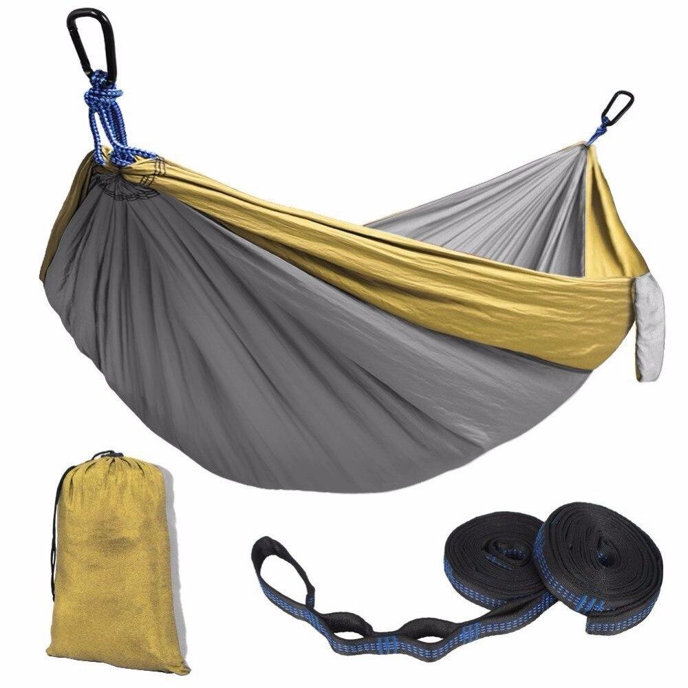 Portable Nylon Parachute Hammock Outdoor Camping Portable