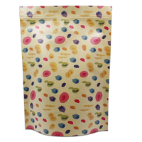Brown Kraft Paper Zipper Bag Stand Up Pouch Food Packaging Tea Nuts Beans Zip Lock Resealable