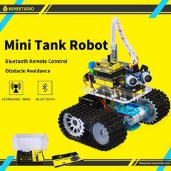 Keyestudio DIY البسيطة خزان الذكية سيارة روبوت كيت لاردوينو روبوت التعليم البرمجة + دليل + PDF (على الانترنت) + 5 مشاريع