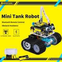 Keyestudio DIY mini tank inteligentny Robot samochodowy zestaw do arduino Robot edukacja programowanie + instrukcja + PDF (online) + 5 projektów
