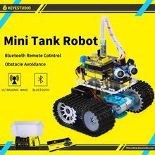 Kit de coche Robot inteligente con Mini tanque DIY de KeyStudio para Arduino Robot, programación educativa + manual + PDF (en línea) + 5 proyectos