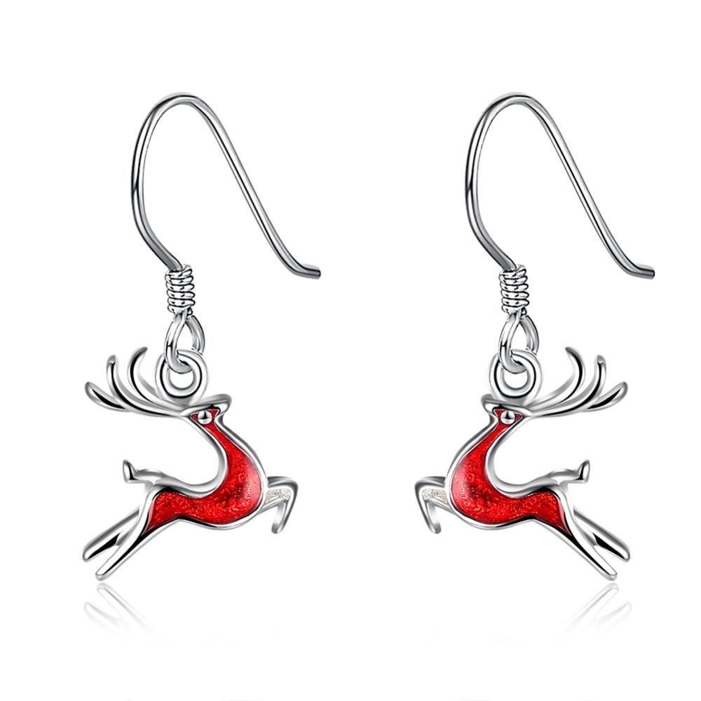 925 sterling silver plating tiearrings deer earings