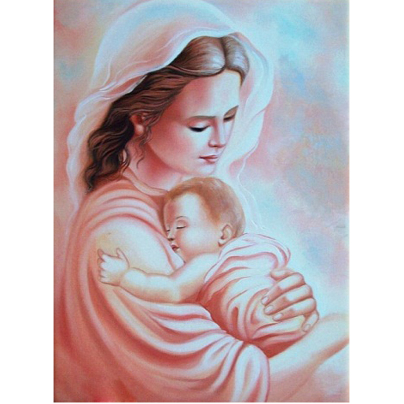 Wholesale Diy Diamond Painting virgin hug Jesus Home Decoration Rhinestone Wall Stickers diamond embroidery Needlework #BR24