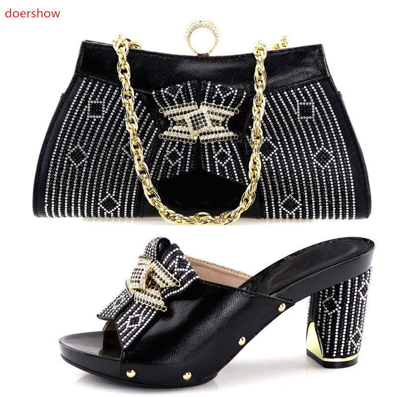 doershow Italian Shoes with Matching Bags for party Women Shoe and Bag To Match for Paeties Nigerian Shoes and Bag Sets!HV1-38 beautiful italian shoes with matching bags to match new african shoes and matching bag sets for wedding doershow hvb1 49