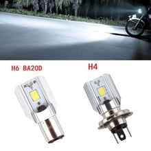 1 шт. H4 H6 Ba20d светодиодный мотоциклетный головной светильник, лампа для скутера 6000k светильник 1000LM ATV Moto rbike аксессуары противотуманная фара для Suzuki