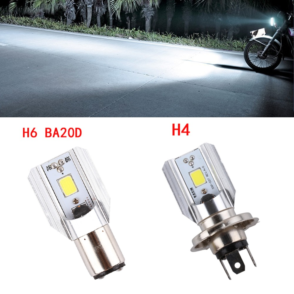 1pcs H4 H6 Ba20d Led Motorcycle Headlight Scooter Bulb 6000k Light 1000LM ATV Moto Motorbike Accessories Fog Lamp For Suzuki
