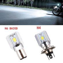 Motorcycle Headlight H6//BA20D COB LED Light 900LM Super Bright Scooter Lamp OK