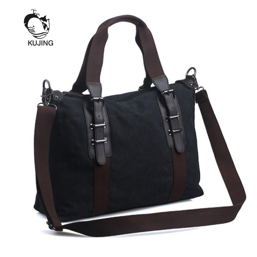 KUJNG Brand Men Bag High-quality Canvas Business Handbag Retro Men Shoulder Messenger Bag Men Travel Leisure Package Hot Men Bag все цены