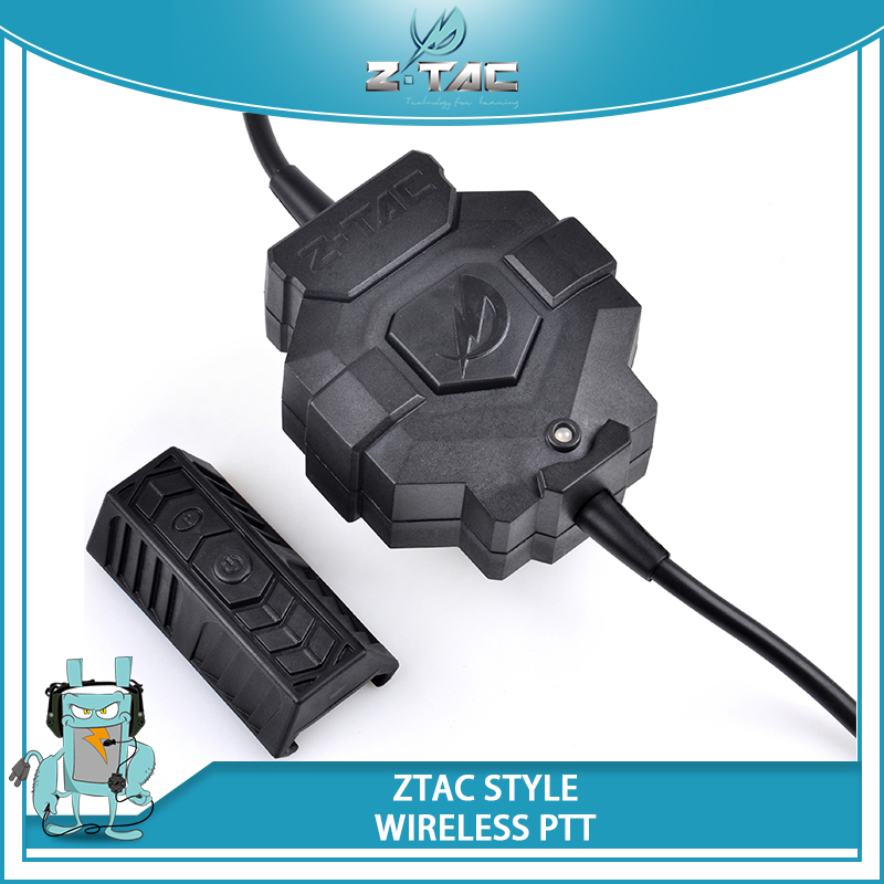 Z Tactical ZTAC Style Wireless PTT Adapter Quality Wireless For Headphone Tactical Z123