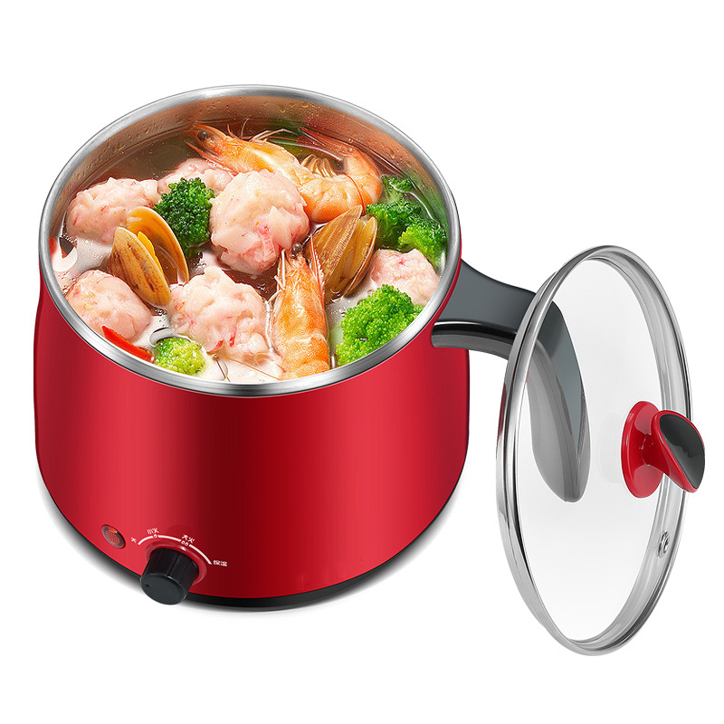 220V Electric Pot Food Cooking Pot Portable Big Power Fast Boil Electric Cooker Water Heating Insulation Kettle with Steam Layer