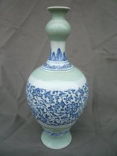 Rare Old Qing Dynasty Blue and white porcelain vase,Hand painting, with mark, best collection&adornment, free shipping
