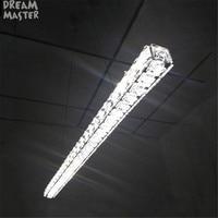 Modern L70cm Long Bar LED Crystal Chandelier Dining Room Kitchen Restaurant Office Illumination Lighting Ikea RH