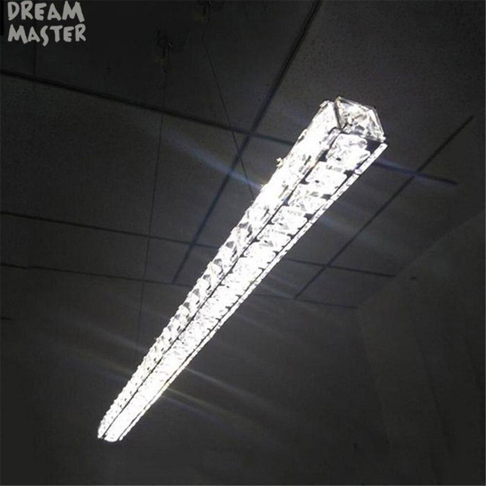 Modern L70cm Long Bar LED crystal Chandelier Dining room Kitchen Island lights Restaurant office lighting fixtures