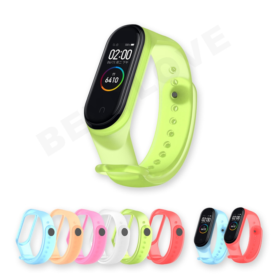 Clear Mi Band 4 3 Strap Wrist Strap For Xiaomi Mi Band 3 4 Bracelet Silicone Miband 3 4 NFC Accessories Smart Mi band4 Correa 2