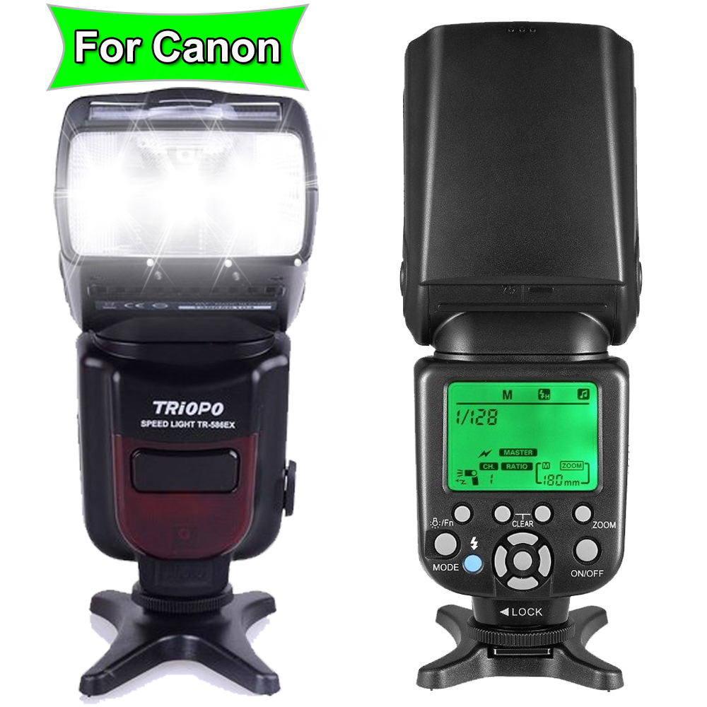 TRIOPO TR-586EX  Wireless TTL Speedlite Flash Speedlight For Canon 6D 5D2 5D3 1200D DSLR Camera As Yongnuo YN565EXII YN-568EX II 2017 triopo tr 586ex flash ttl speedlite wireless speedlight suit for nikon d750 d700 d7100 camera as yongnuo yn 568ex