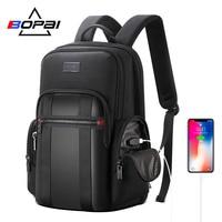 BOPAI рюкзак мужской USB Противоугонный деловой рюкзак для 15,6 дюймов ноутбук рюкзак черный рюкзак школьный рюкзак дышащий рюкзак