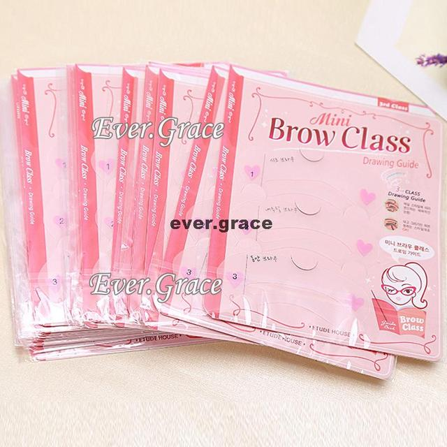 Styles Eyebrow Drawing Card Stencil Grooming Shapping Assistant Eye Brow Class 1