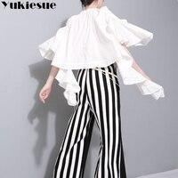 Off shoulder blusas womens tops and blouses 2018 summer autumn half sleeve batwing ruffles shirt womens top blouse Harajuku