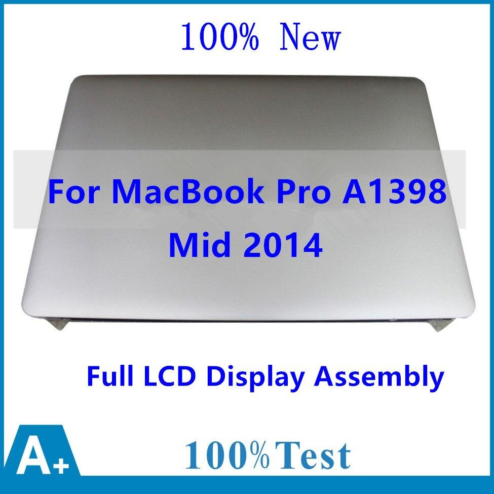 Nuevo ensamblaje de pantalla Retina del Panel de pantalla LCD completo genuino para Apple MacBook Pro 15 A1398 tarde 2013 EMC 2674 A mediados de 2014 EMC 2881