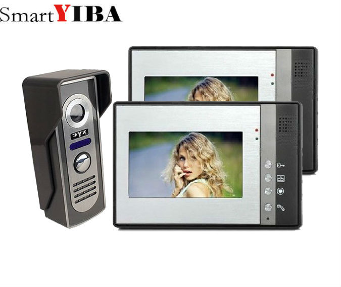 SmartYIBA 2*7 pouces sécurité sonnette caméra TFT vidéo Interphone infrarouge Vision nocturne sonnette Interphone vidéo Interphone
