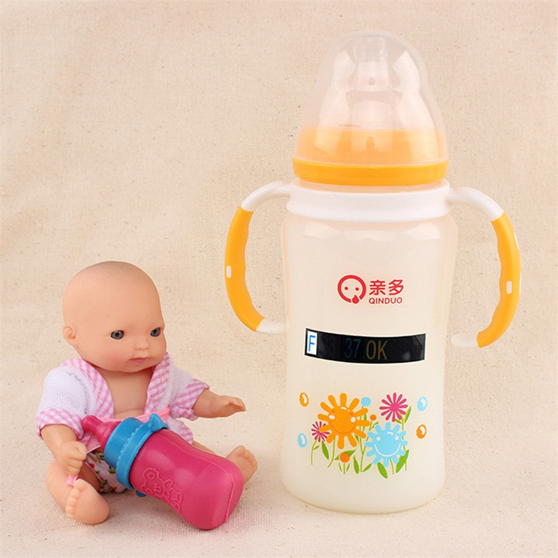 5pcs a lot Baby Milk Bottle Temperature Test ABS Digital Sticker Thermometer Infant Paper Strip Safely Measuring Plastic Card