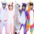 winter girl boy children pajamas baby onesie kids pajama set animal cartoon sleepwear stitch panda pink unicorn hooded kigurumi