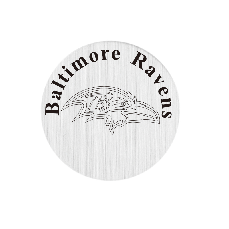 20 Pcs 316L Stainless Steel Plate Baltimore Ravens Locket Plates Fit For 30mm Living Floating Glass Memory Locket