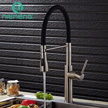 Лидер продаж Кухонная мойка кран черный и chrome Палуба горе вытащить двойной сопла распылителя горячая холодная смесители воды ICD60382