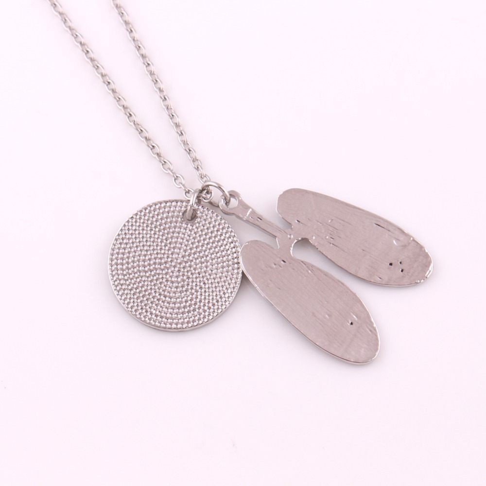 Zinc Alloy Antique Silver Plated Human Thoracic Anatomy Pendant Lung