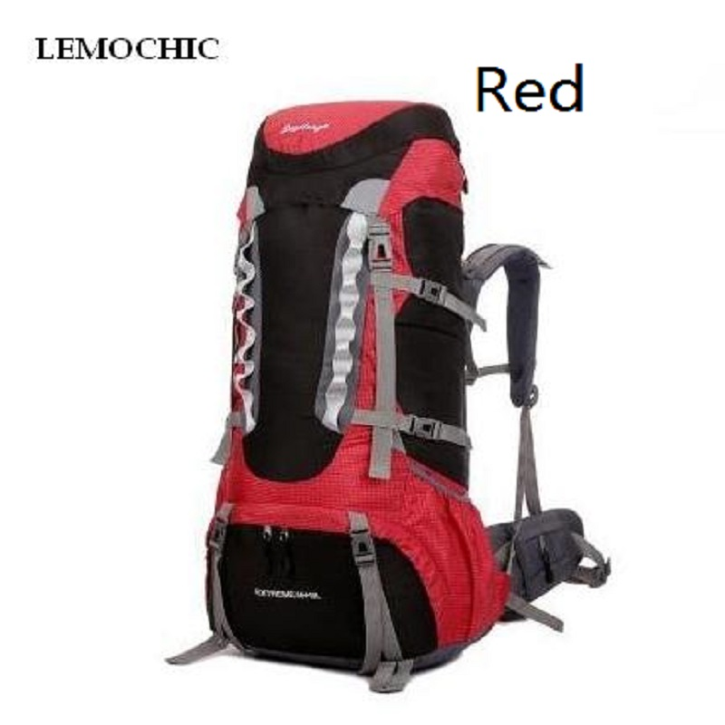 ФОТО LEMOCHIC hiking outdoor backpacks camping sport bag waterproof with rain cover canvas bag rucksack large capacity six color
