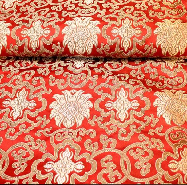 500cm*75cm Synthetic Silk Brocade Fabrics Furniture Cushion Cover Material  Crafts Packaging Cloth Dress Clothing
