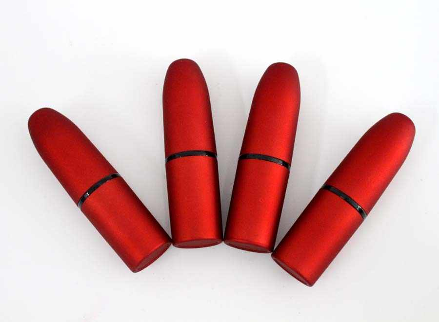 Kasus kosong bulet bentuk lipstik tabung untuk lip rouge merah DIY cup ukuran 12.1mm