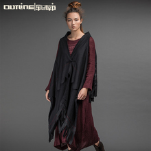 Outline Original Brand Woolen Vest National Trend Irregular Winter Vest All-match Loose Shawl Women Autumn Winter VestL154Y020