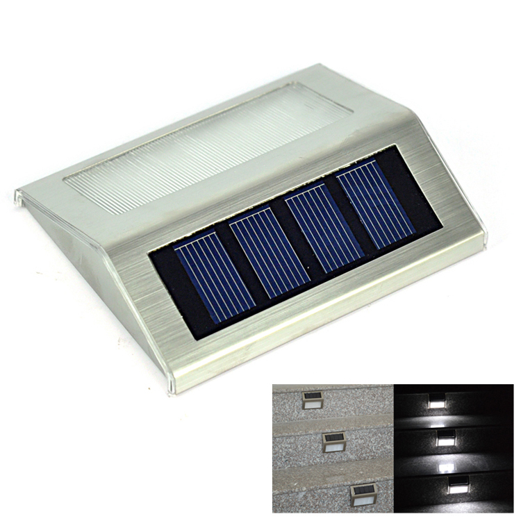 Solar Leds Outdoor Waterproof Garden Pathway Stairs Lamp Light Energy Saving Led Wall Warm White Cold In Lamps From Lights