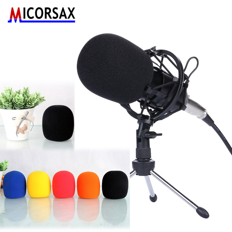 100 pcs Top Quality Colorful Microphone Cover Windscreens Sponge for Office Meeting Computer Handheld Karaoke Foam